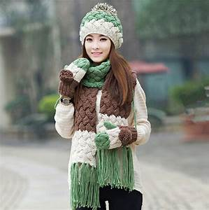 Warm Winter Looks In Matching Gloves Hat And Scarves Set