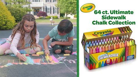 Crayola 64 Ct Ultimate Sidewalk Chalk Collection