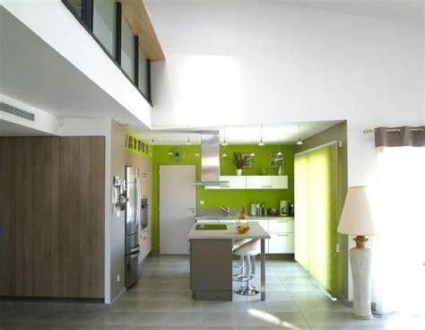 plan central cuisine maison d cuisine avec ilt central architecte perpignan arche construction constructeur de