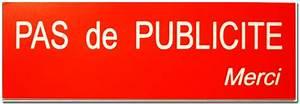 Pas De Pub Merci : plaque boite aux lettres et plaque stop pub tgl ~ Dailycaller-alerts.com Idées de Décoration