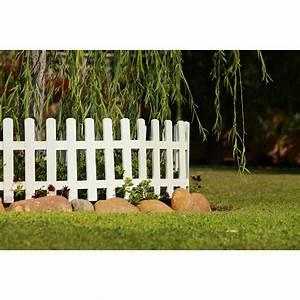 Bordure Plastique Jardin : bordure de jardin en plastique blanc h 40 cm ~ Premium-room.com Idées de Décoration