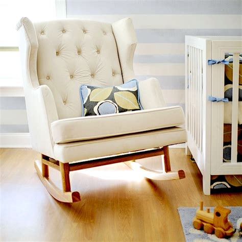 nursery furniture rocking chairs upholstered rockers for baby s nursery kidspace interiors