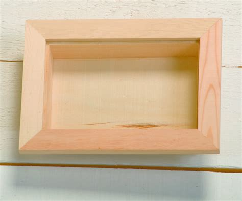 wooden box frame rectangular wooden 3 d shadow box frame with 1155