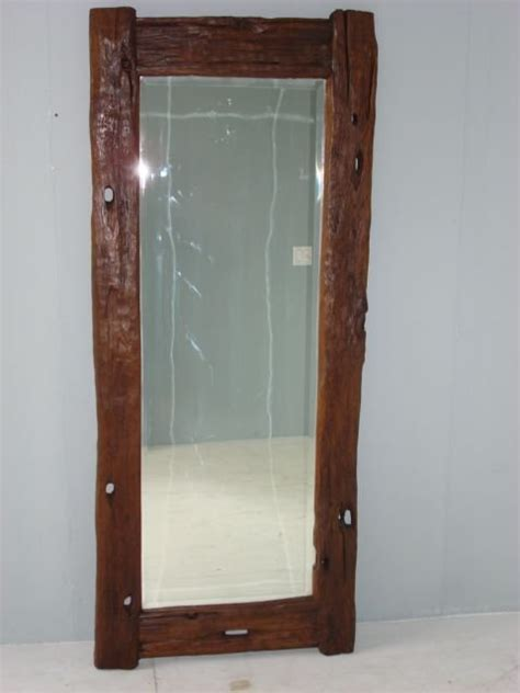 floor mirror wood rustic wood java floor mirror at 1stdibs