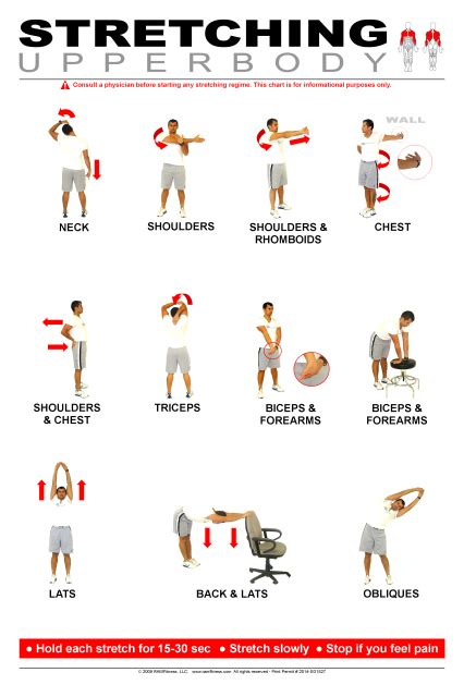 upper body stretching poster