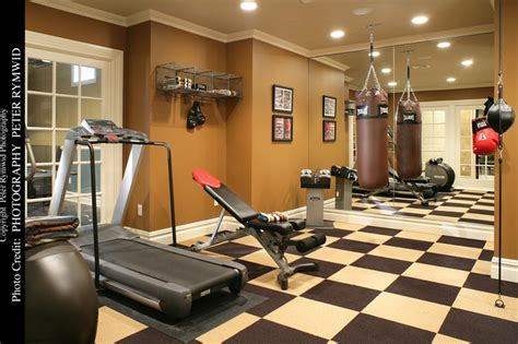 workout room mirrors exercise room traditional home york by