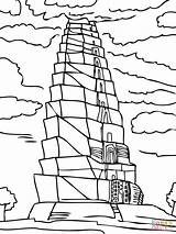Babel Tower Coloring Printable Pages Bible Crafts Activities Sunday Tour Lessons Craft Worksheet Brick Wall Sheet Activity Clipart Sheets Template sketch template