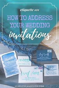 How to address your wedding invitations wedding for Wedding invitation etiquette phd