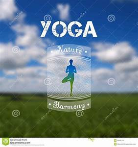 Yoga Poster With A Natural Landscape. EPS,JPG. Stock ...
