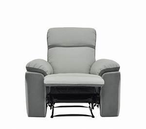 Fauteuil Gris Clair : fauteuil relax willy pu microfibre gris clair fauteuils but ~ Teatrodelosmanantiales.com Idées de Décoration