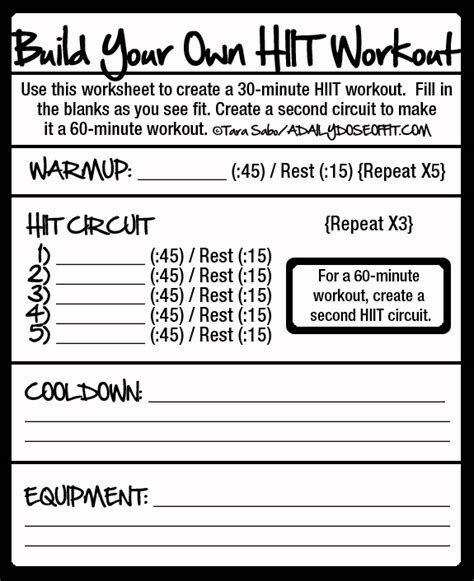 Where Can I Build And Print A Free Resume by A Daily Dose Of Fit How To Build A Hiit Workout