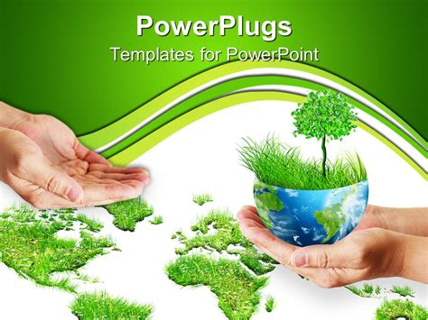 powerpoint template save  trees