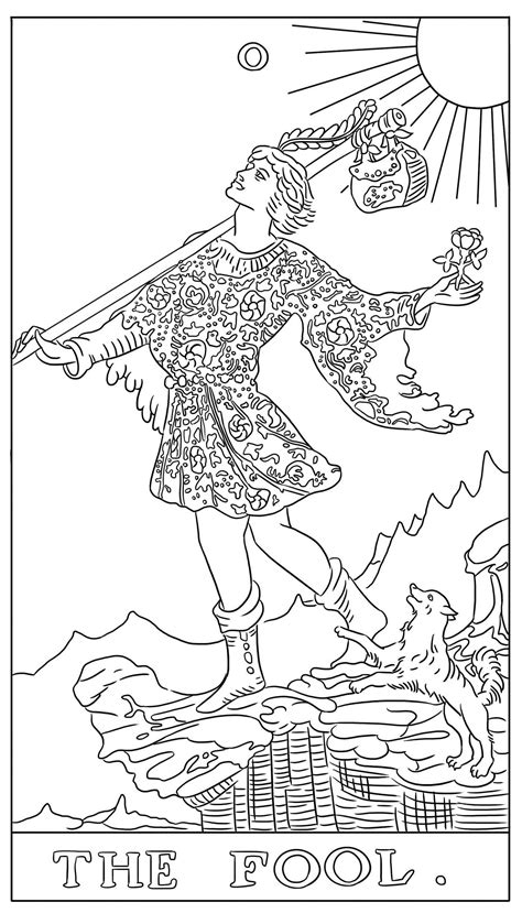 Coloring Cards by The Tarot Card Coloring Book Book By G C