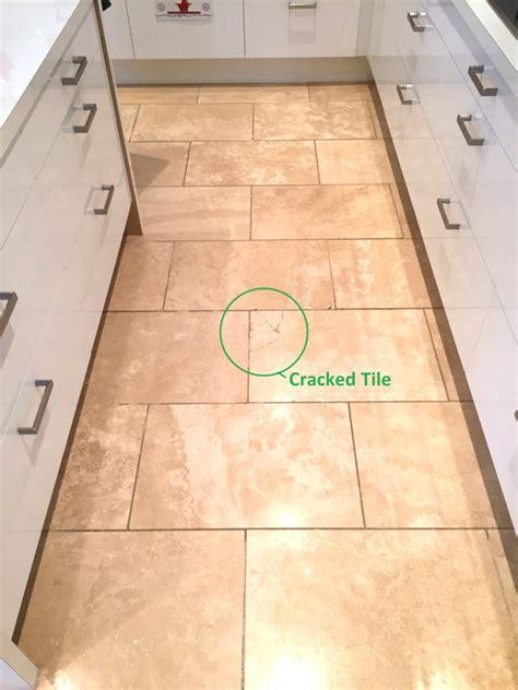 repairing cracks in travertine kitchen tiles