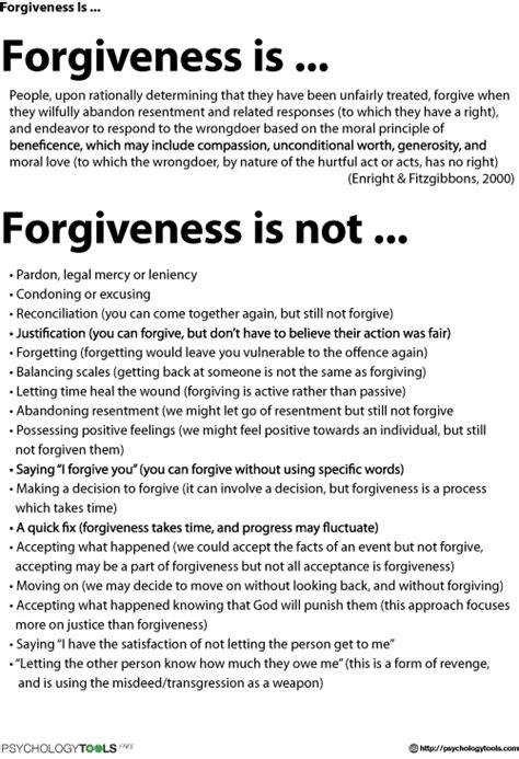 Forgiveness Is Cbt Worksheet  Psychology Tools