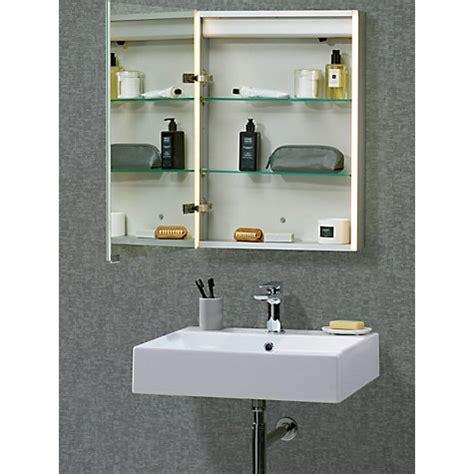 buy john lewis led trace illuminated bathroom cabinet