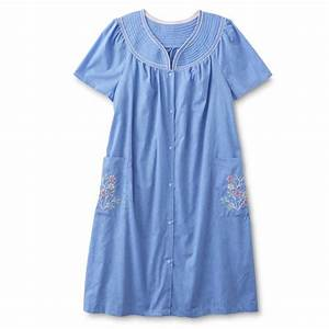 granada women39s plus chambray duster robe With robe chambray