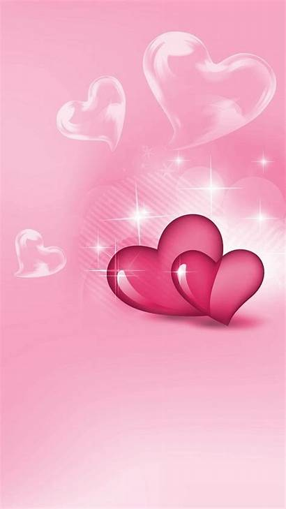 Valentine Iphone Valentines Wallpapers Hearts Heart Happy