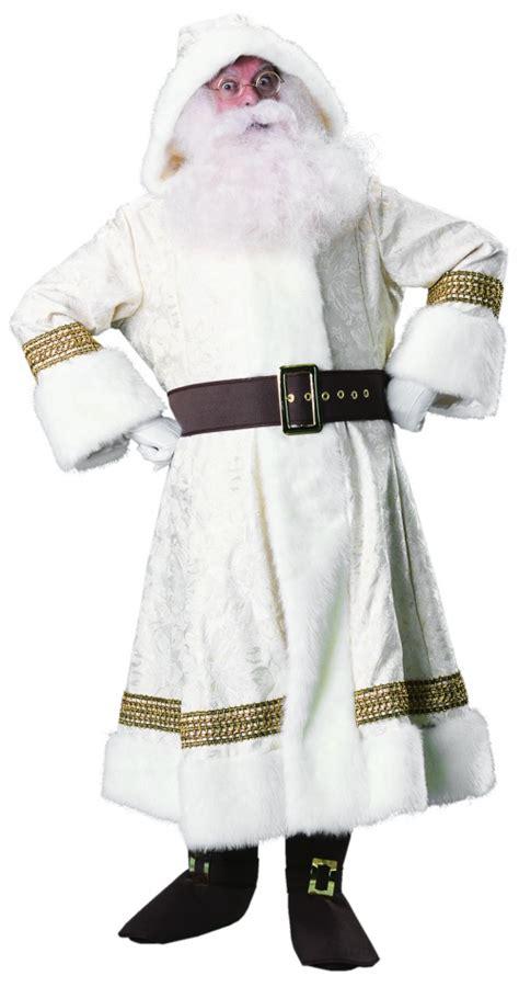 time santa suit  hood white european world claus