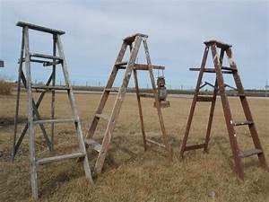 2, Antique, Wooden, Ladders
