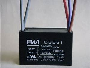 Ceiling Fan Capacitor 5 Wire 4 5  5  6 For Bm 1z620