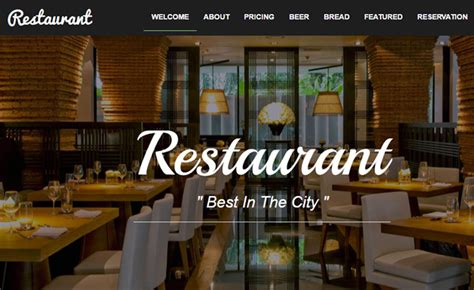 elegant restaurant website template  html bootstrap