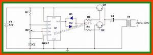 How To Make 12v Dc To 220v Ac Converter  Inverter Circuit
