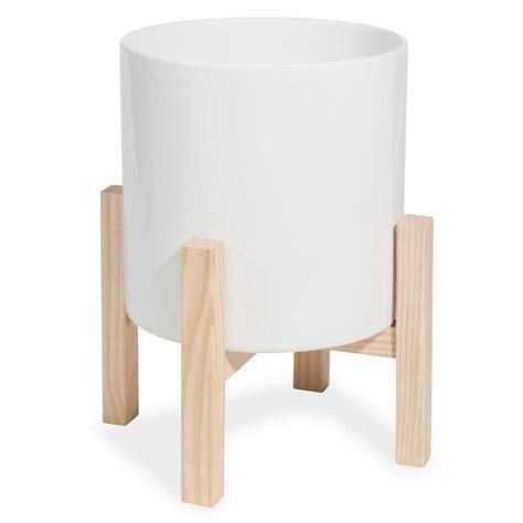 Cache Pot Sur Pied Cache Pot Sur Pied En C 233 Ramique Blanche H 30cm Deco Salon C 233 Ramiques Blanches