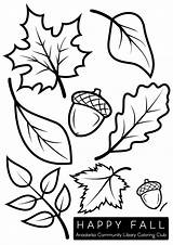 Coloring Leaves Fall Pages Clip Leaf Printable Template Autumn Sheets Okpls Crafts Acorns Draw Printables Acorn Club Animal Drawings Drawing sketch template