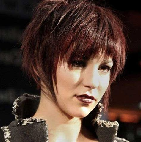 20 best collection of edgy short hairstyles for round faces