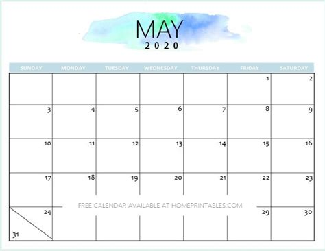 calendar printable simple pretty planners