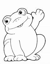Coloring Frog Frogs Printable Labels Animal Template Sheets Froggy Funny sketch template