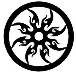 tribal sun cnc cutting dxf format file for plasma or