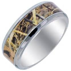 maine wedding bands mens camouflage wedding band in titanium 8mm