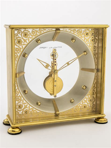 jaeger lecoultre table clock jaeger lecoultre table clock with 8 day inline movement