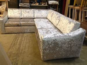 Crushed velvet bespoke sofa corner sofas pinterest for Crushed velvet sectional sofa