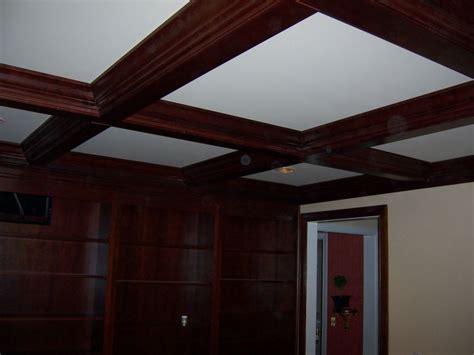 mki custom trimwork  painting coffered ceilings