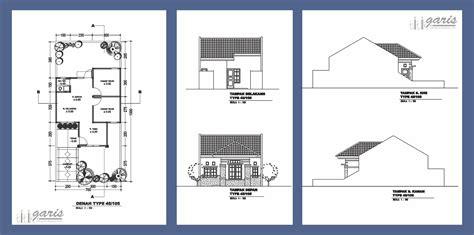 denah rumah sederhana lengkap  tampak desain rumah