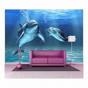 Papier Peint Geant : papier peint g ant d co dauphins 250x360cm art d co stickers ~ Premium-room.com Idées de Décoration