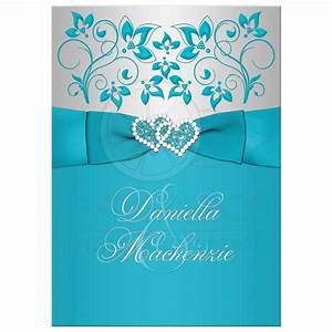 excellent turquoise wedding invitations theruntimecom With royal blue and turquoise wedding invitations