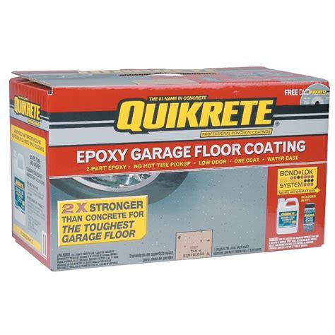 Quikrete Epoxy Garage Floor Coating by Quikrete Coatings Flooring Kit One Gallon Gray Tools