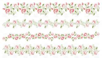 Elegant Floral Border Vector Free