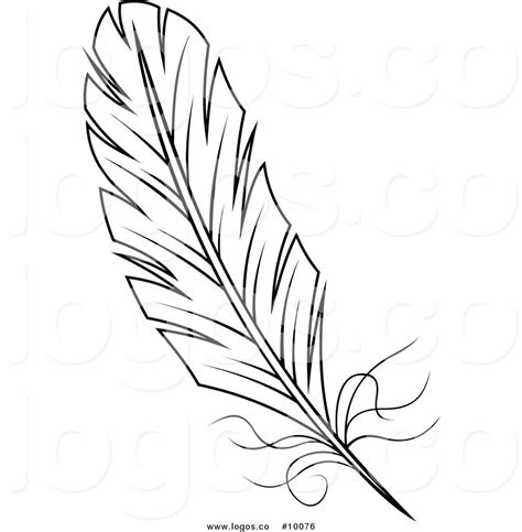 Turkey Feather Template Set Of 6 by Royalty Free Vector Of A Black And White Feather Logo