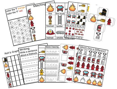 fireman activities for preschool safety preschool printable activity pack 629