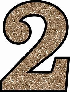 Free Glitter Numbers 0