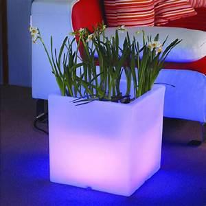 Pot Fleur Lumineux : pot fleurs lumineux en forme de cube pour d coration leds sur grossiste chinois import ~ Nature-et-papiers.com Idées de Décoration