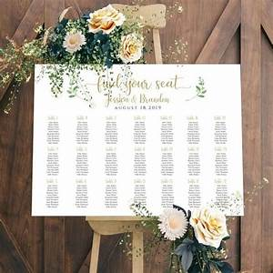 Printable Wedding Sign Seating Chart Sign Wedding Seating