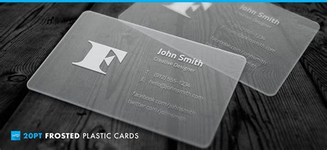pt frosted plastic business cards