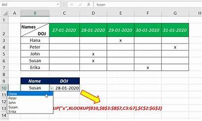 Column Header Excel Row Value Return Range