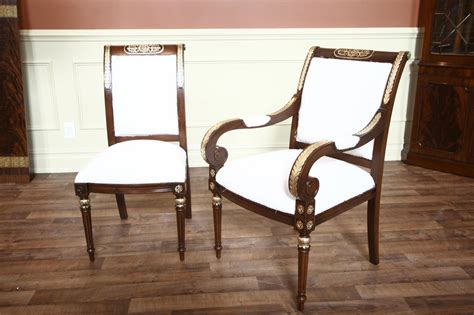 mahogany dining chairs muslin fabric glazed finish 2